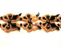 Beadwork Butterfly Bracelet JewelleryKit with SWAROVSKI Peach and bronze